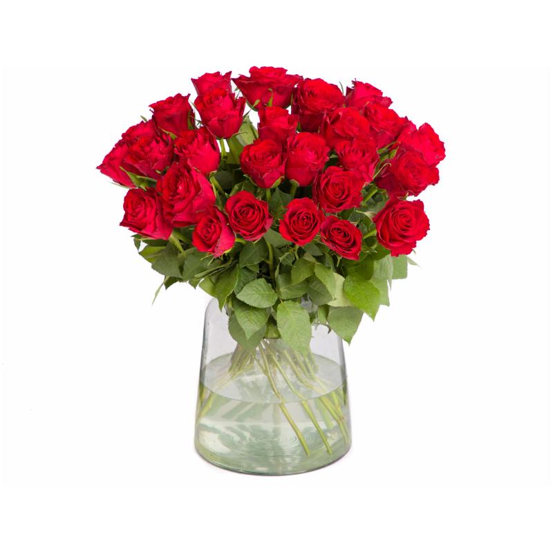 Rode rozen bezorgen