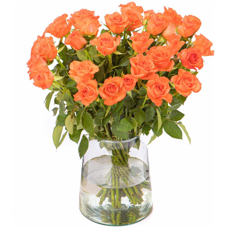 Oranje rozen boeket